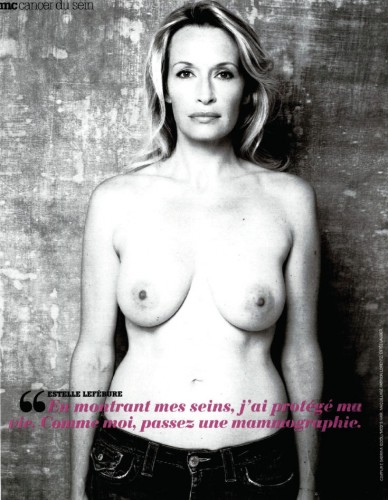 Estelle Lefebure nue (topless)   Marie Claire 686 (photos)