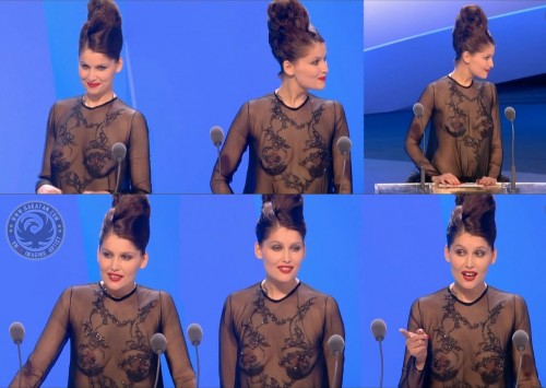Laetitia Casta presque nue aux Césars 2010 (photos video)