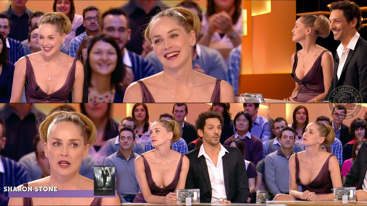 "Sharon stone in ""le grand journal"" France"