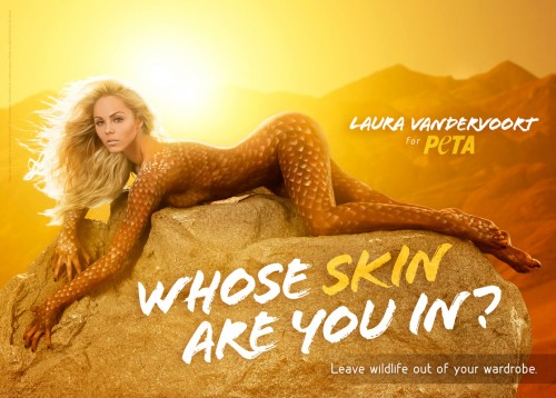 Laura Vandervoort nue pour PETA (video)