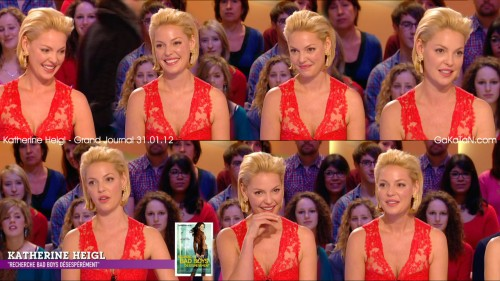Katherine Heigl au grand Journal 31.01.12 (photos)