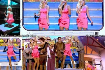 Jenifer-sexy-robe-rose-Les-enfoires-2012
