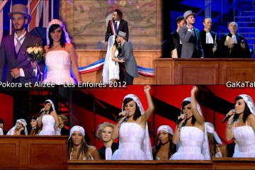 Matt-Pokora-Alizee-mariage-Les-Enfoires-2012