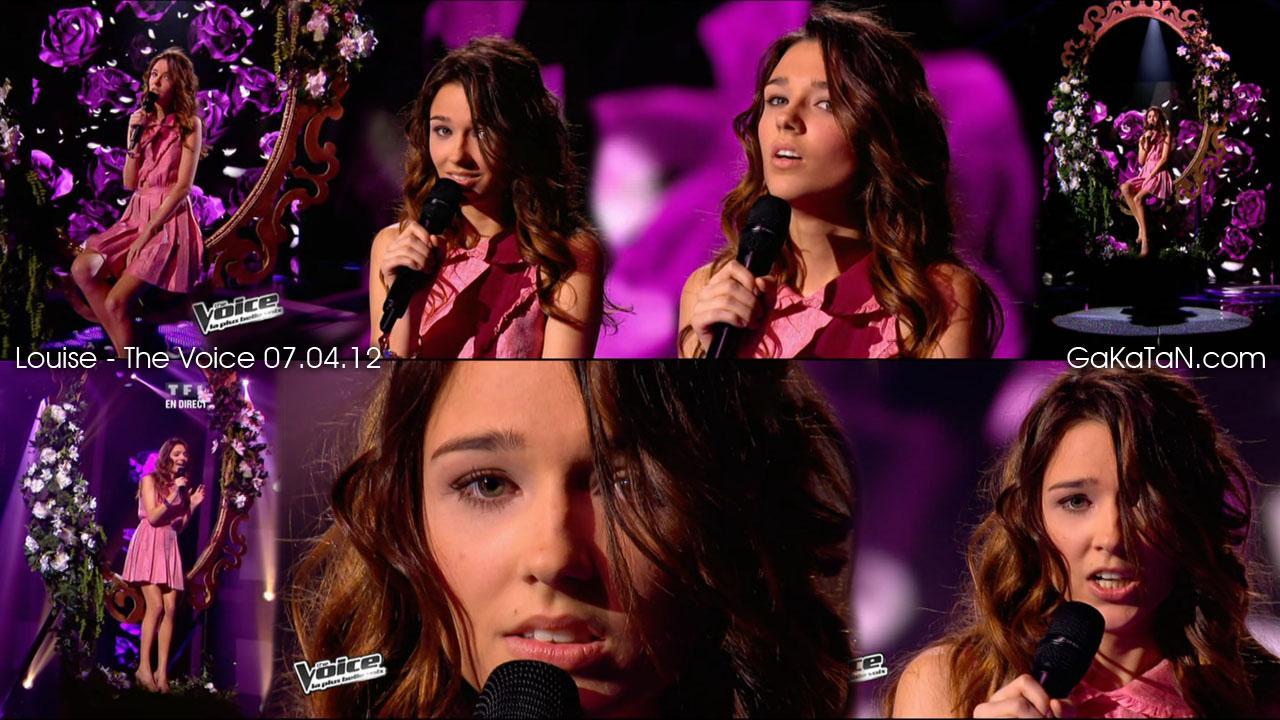 Louise chante la vie en rose dans The Voice 07.04.12 (video)