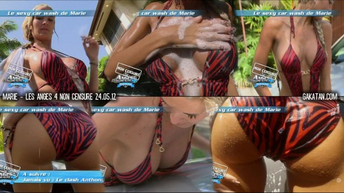 Le sexy car wash de Marie dans Les Anges 4 non censuré (video)