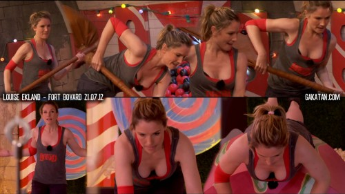 Louise Ekland sexy dans Fort Boyard 21.07.12 (video)