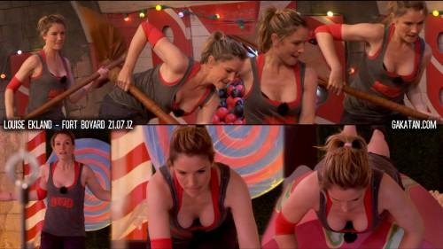 Louise Ekland sexy dans Fort Boyard 21.07.12 (video)