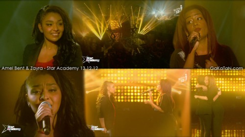 Zayra et Amel Bent dans la Star Academy Revolution 13.12.12 (video)