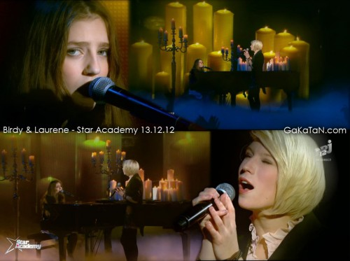 Birdy et Laurène   Star Academy Révolution 13.12.12 (video)