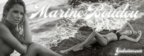 Marine Boudou nue (topless) sur la plage (photos)