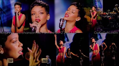 Rihanna dans La chanson de lannée 2012 29.12.12 (video)