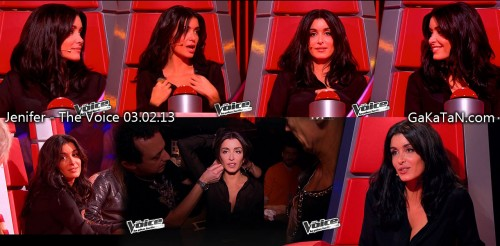 Jenifer dans The Voice 03.02.13 (photos)