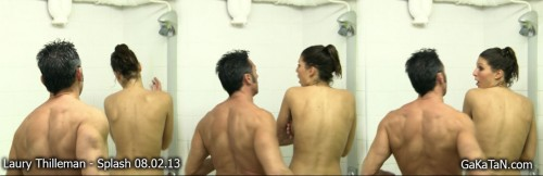 Laury Thilleman nue dans Splash 08.03.12 (video)