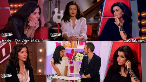 Jenifer dans The Voice 16.03.13 (photos)
