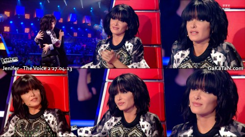 Jenifer Bartoli dans The Voice 27.04.13 (photos)