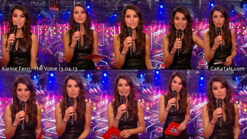 Karine Ferri sexy dans The Voice 13.04.13 (photos)