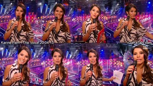 Karine Ferri dans The Voice 20.04.13 (photos)