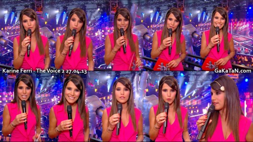 Karine Ferri dans The Voice 27.04.13 (photos)
