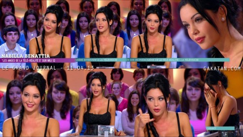Nabilla Benattia au Grand Journal 11.04.13 (photos)