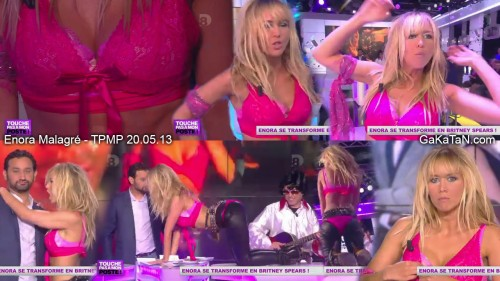 Enora Malagré sexy en Britney Spears dans TPMP 20.05.13 (video)