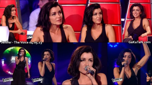 Jenifer dans The Voice 04.05.13 (photos)