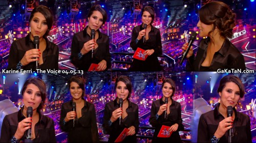 Karine Ferri dans The Voice 04.05.13 (photos)