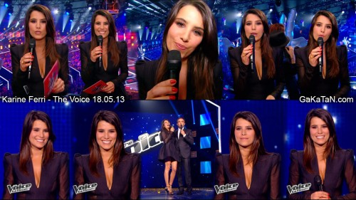 Karine Ferri dans The Voice 18.05.13 (photos)