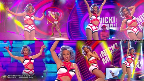 Natasha St Pier en Nicki Minaj dans Un air de star 14.05.13 (video)
