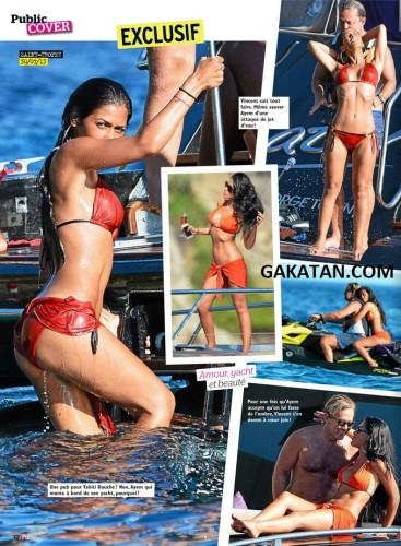 Ayem sexy en bikini et en couple à St Tropez dans Public (photos)