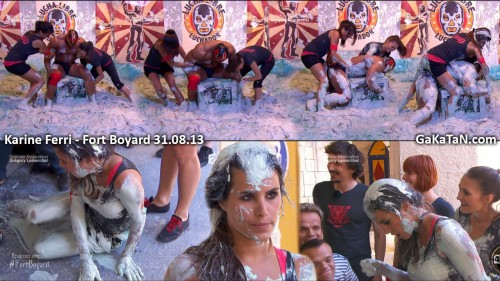 Karine Ferri dans la boue de Fort Boyard 31.08.13 (video)