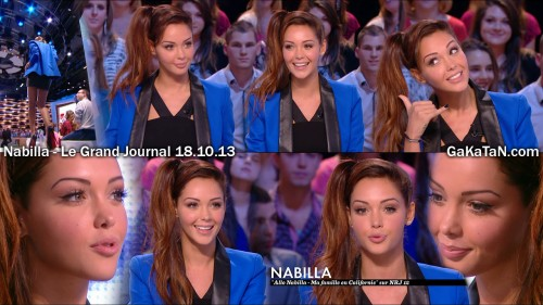 Nabilla dans Le grand Journal 18.10.13 (photos)
