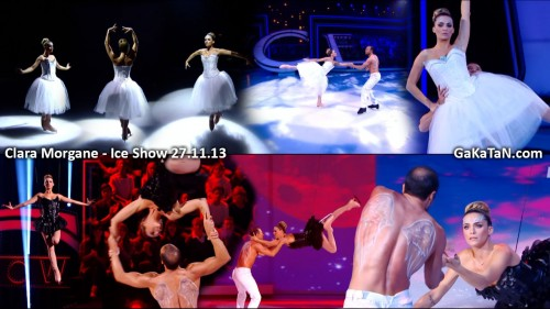 Clara Morgane dans Ice Show 27.11.13 (video)
