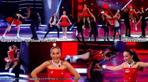 Kenza Farah dans Ice Show 04.12.13 (video)