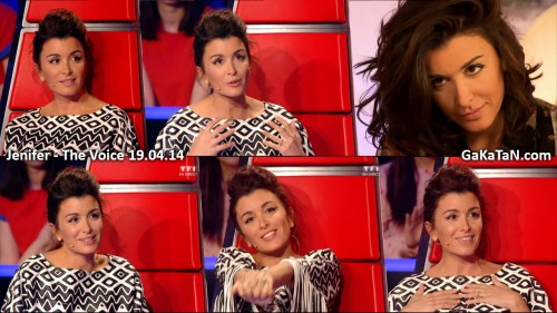 Jenifer dans The Voice 19.04.14 (photos)