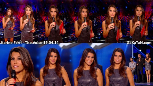 Karine Ferri dans The Voice 19.04.14 (photos)