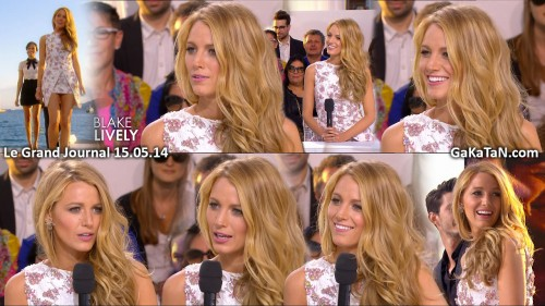 Blake Lively dans Le grand journal 15.05.14 (photos)
