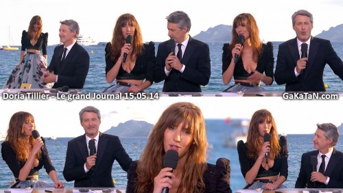 Doria Tillier sexy dans Le grand journal 15.05.14 (photos)