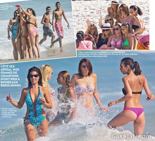 Ludivine-Sagna-Fiona-Cabaye-Jennifer-Giroud-Sandra-Eva-Marie-Cecile-Fiona-Cabaye-Camille-Tytgat-Ludivine-Debuchy-bikini-sexy-rio-bresil
