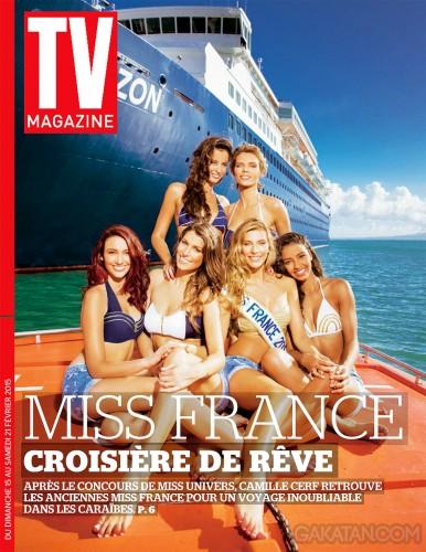 Malika-Menard-Sylvie-Tellier-Delphine-Wespiser-Laury-Thilleman-Camille-Cerf-Flora-Coquerel-TV-Mag-croisiere-caraibes-couverture