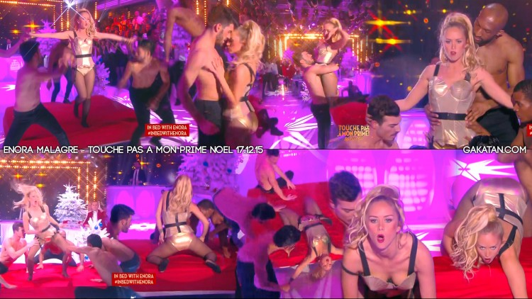 Enora-Malagre-sexy-In-bed-with-Madonna-171215-TPMP-Noel