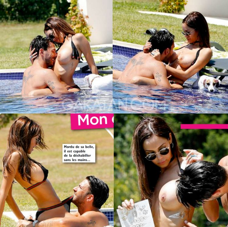 Nabilla-nue-topless-Public-piscine-Thomas